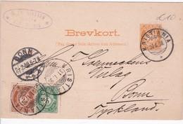 NORVEGE 1898 ENTIER POSTAL CARTE DE KRISTIANIA - Ganzsachen