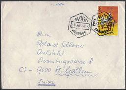 XB62     Spain 1974 Cover Letter From Granada To St.Gallen Switzerland - 1931-Aujourd'hui: II. République - ....Juan Carlos I