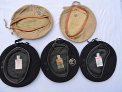 LOT 5 BERETS Modéle 1952 : 501° GROUPE DE TRANSPORT  Années 1950 - Uniforms