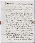 """1840 3-page Letter To """"John Fielden M.P. (for Oldham)"""" From His Son """"Sam""""  Ref 0453 - Autógrafos"""