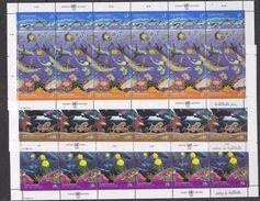 UNO NY, Geneva, Vienna  1992 Oceans 2v In Sheetlet  3 Sheetlets ** Mnh (F6758) - Gezamelijke Uitgaven New York/Genève/Wenen