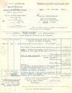 FACTURE 1931 ALCOOL LESAFFRE FRERES RUE DU LOUVRE PARIS - BUREAU DE LOOS LEZ LILLE NORD - SITUATION DES MARCHÉS - Alimentare