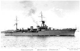 Marine Militaire Francaise  -  'Duguay-Trouin'  -  Croiseur   -  Marius Bar Photocard - Guerra