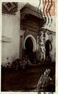 RPPC FOTOPOSTAL  Tanger Puerta Mezquita Del Zoco De Afuera  Republica Española - Tanger