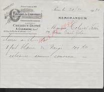 FACTURE DE 1910 A. CHAMAGNE FABRIQUES DE COURONNES PARIS RUE DU MOULIN DE LA POINTE : - United Kingdom