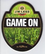 J.W.LEES BREWERY (MANCHESTER, ENGLAND) - GAME ON - PUMP CLIP FRONT - Uithangborden