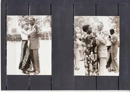 MILITARIA     2 Photos   D'une Reception En AFRIQUE  Avec Des Militaires   Annees 1970 A 1980 - War, Military