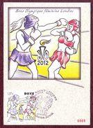 Carte Postale Philatélique - SAINT PIERRE ET MIQUELON - Boxe Olympique Féminine - 2012 - St.Pierre & Miquelon