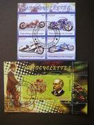 B(1402) 2009 # Transport - Motorcycles.Motorräder.Motocyclettes # Set Of 4 Stamps + Block # Used Motorbikes - Motorbikes