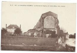 CPA LA CHAIZE LE VICOMTE, LE CHEVET DE L'EGLISE, XIe SIECLE, VENDEE 85 - La Chaize Le Vicomte
