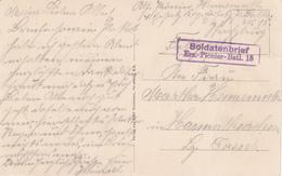 Cachet Soldatenbrief / Ers.- Pionier - Batl. 15 Sur CP De Strasbourg - Marcophilie (Lettres)