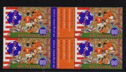 Netherlands 1994, 4-block Sports, Soccer, MNH. Cv 4 Euro - 1994 – USA