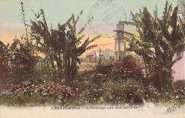 Maroc        273        Casablanca.L'horloge Vue Des Jardins ( Datée 1914 ) - Casablanca