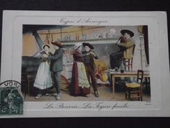 TYPES D'AUVERGNE - La BOURREE - La FIGURE FINALE - Danse Folklorique - Cabrette - Folklore - Voyagée Le 9 Avril 1912 - Auvergne