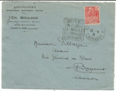 C894 - CALVADOS - Daguin ISIGNY S/ MER SON BEURRE SA MOULE SES OMBRAGES LE VIEUX CASTEL - 1931 - - Marcophilie (Lettres)