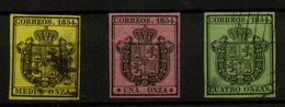 1335- España Nº 28/30 - 1850-68 Royaume: Isabelle II
