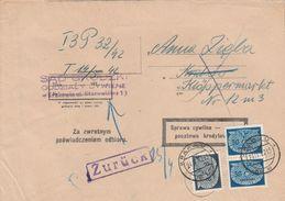 General Gouvernement Lettre De Service Krakau 1942 - 1939-44: 2. WK