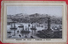 TRIESTE - PANORAMA VON TRIEST - PANORAMA DI TRIESTE, MINI CARD - Trieste