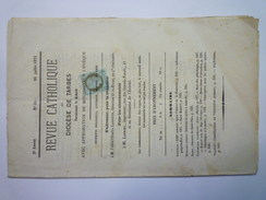 1 Centime Cérès  Sur Revue 1873  Avec Annulation Typographique Des Journaux    - 1871-1875 Ceres