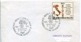27597 Italia, Special Postmark 1974 Roma,. Centenario Legione Carabinieri, Police Centenary - Police - Gendarmerie