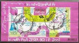 Pays-Bas Netherlands 2001 Bienfaisance Welfare L'enfant Et Computer Feuille Sheetlet Obl - Used Stamps