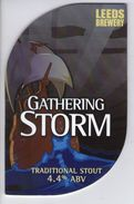 LEEDS BREWERY (LEEDS, ENGLAND) - GATHERING STORM TRADITIONAL STOUT - PUMP CLIP FRONT - Uithangborden