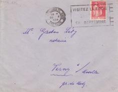 Lettre Obl. Flamme Flier Strasbourg Gare (Visitez La Foire Européenne En Septembre)  30 X 34 Pour Verny - Postmark Collection (Covers)