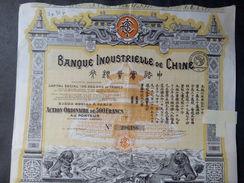 1 Banque Industrielle Chine Action 500 FR + Coupons - Autres