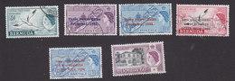 Bermuda, Scott #163-168, Used, Queen Elizabeth II And Scenes Of Bermuda Overprinted, Issued 1953-59 - Bermudes