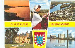 Cpsm -  Chouze Sur Loire - Centrale Nucléaire ,Bords De La Loire , Château Des Réaux , Costume Tourangeau     Z133 - Frankreich