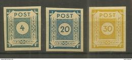 """Sowjetische Zone 53a, 54a,55  """"3 Briefmarken Im Satz: Ziffernserie Ost.Sachsens """" Postfrisch Mi.:1,20 - Zona Soviética"""