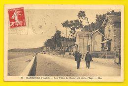 MARENNES-PLAGE Rare Les Villas Du Boulevard De La Plage (LL) Chte Mme (17) - Marennes
