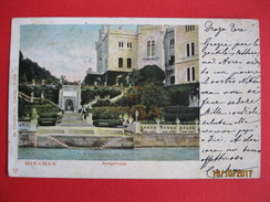 TRIESTE - MIRAMARE ANLEGETREPPE, VIAGGIATA - Trieste