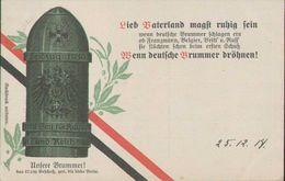 42 Cm Geschoss, Dicke Berta, Feldzug 1914, Propaganda-Postkarte, Militär, Weltkrieg - War 1914-18