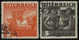 ÖSTERREICH 586/7 O, 1936, 3 Und 5 S. Trachten, Normale Zähnung, Pracht - 1850-1918 Imperium