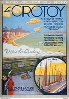 Chemin De Fer Du Nord Le Crotoy Plage-casino-hotels-tennis 1920s - Postcard - Poster Reproduction - Publicité