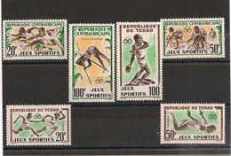 RÉPUBLIQUE CENTRAFRIQUE Et TCHAD   N°Y/T : 80/81** 20/21** Et P.A. 6** Et 8** - Postzegels
