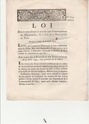 LOI - DECRET DE L'ASSEMBLEE  NATIONALE 4 AVRIL 1792 - RELATIVE AU SECOURS A ACCORDER AUX CITOYENS PAUVRES DES DEPT .... - Gesetze & Erlasse