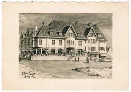 De Haan, Aan Zee, Strand Hotel, Callens  - De Wilde (pk35680) - De Haan