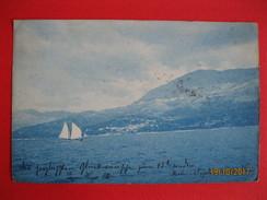 TRIESTE - PANORAMA, VELIERO, VIAGGIATA 1899 - Trieste