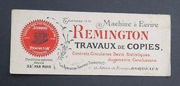 BUVARD REMINGTON Machine à écrire Bordeaux Typewriter Blotter Löscher - Vieux Papiers