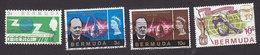 Bermuda, Scott #196, 201, 203, 205, Used, ITU, Churchill, World Cup Soccer, Issued 1965-66 - Bermudes