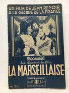 Recueil Des Chansons Du Film La Marseillaise - Partitions Musicales Anciennes