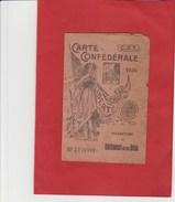 """CARTE SYNDICALE C.G.T. """"1936"""" FEDERATION DU BOIS 07 LE TEIL - Documents Historiques"""