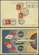 ITALIEN 358 BRIEF, 1938, 2 C. Orangerot, 3x Auf Propagandakarte Hitler/Mussolini, Pracht - Italien