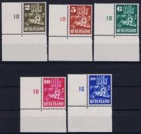Netherlands: NVPH Nrs 556 - 560  Postfrisch/neuf Sans Charniere /MNH/** Corner Pieces Churches Kerken - Periodo 1949 - 1980 (Giuliana)
