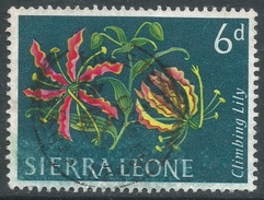 Sierra Leone. 1963 Flowers. 6d Used. SG 248 - Sierra Leone (1961-...)