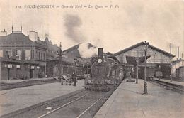 SAINT QUENTIN - Gare Du Nord - Les Quais - Très Bon état - Saint Quentin