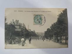 Paris - Le Boulevard Pasteur Et Le Métropolitain - CM éditeur - Metro, Stations