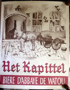 """AFFICHE  :  BIERE  """" ABBAYE DE WATOU """"  39,5 X 49 Cm - Posters"""